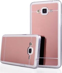 Etuistudio Galaxy J3 2016r mirror - lustro silikonowe etui lustrzane TPU - rose gold.