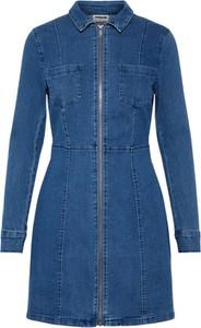 Niebieska sukienka Noisy May mini w stylu casual