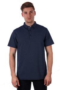 Granatowa koszulka polo Just yuppi z krótkim rękawem z tkaniny