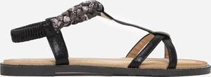 Czarne sandały Multu z płaską podeszwą
