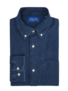 Koszula Jack & Jones z kołnierzykiem button down z długim rękawem z bawełny