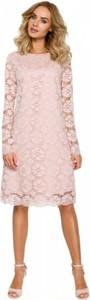 Sukienka MOE trapezowa z tkaniny