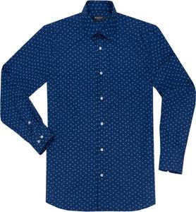 Niebieska koszula Dastan z kołnierzykiem button down z długim rękawem