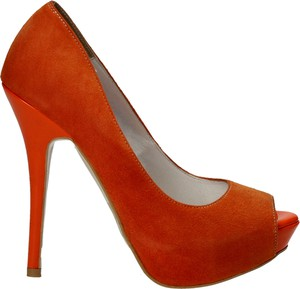 Pomarańczowe czółenka damskie carsona