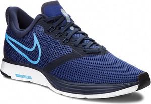 Granatowe buty sportowe Nike sznurowane zoom
