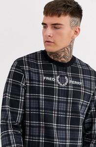 Czarna bluza Fred Perry z dresówki
