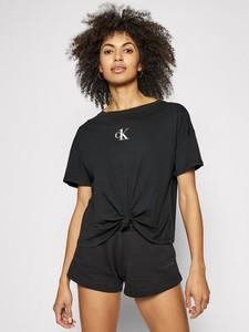 Bluzka Calvin Klein z krótkim rękawem z okrągłym dekoltem