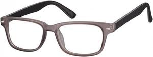 Stylion Okulary Zerówki klasyczne oprawki Sunoptic CP156D szaro-czarne