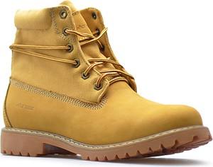 Żółte buty zimowe MT TREK ze skóry w stylu casual