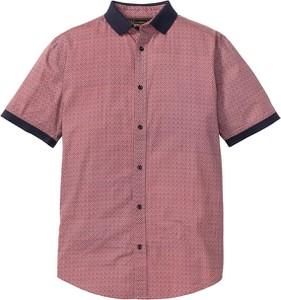 Koszula bonprix bpc selection z klasycznym kołnierzykiem w stylu casual z krótkim rękawem