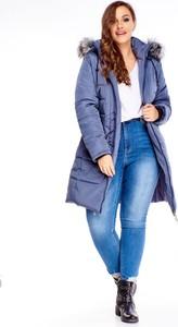Niebieska kurtka TAGLESS długa