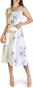 Sukienka Armani Exchange z okrągłym dekoltem z bawełny midi