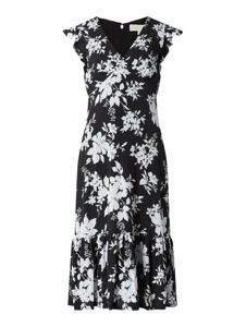 Czarna sukienka Michael Kors mini z krótkim rękawem z dekoltem w kształcie litery v