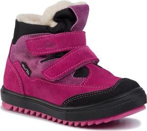 Różowe buty dziecięce zimowe RenBut