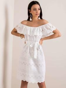 Sukienka Sheandher.pl mini z bawełny z krótkim rękawem