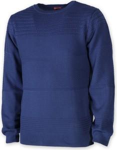 Niebieski sweter Willsoor z okrągłym dekoltem