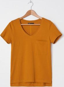 Brązowy t-shirt House z bawełny