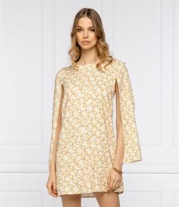 Sukienka Elisabetta Franchi z długim rękawem mini