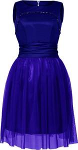 Sukienka Camill Fashion rozkloszowana midi z okrągłym dekoltem