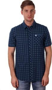 Granatowa koszula Just yuppi w stylu casual
