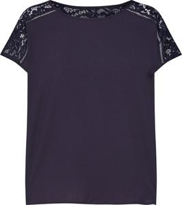 Niebieska bluzka Vero Moda w stylu casual z krótkim rękawem