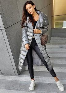 Kurtka Ligari długa w stylu casual