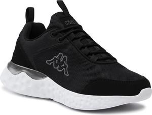 Czarne buty sportowe Kappa z płaską podeszwą sznurowane
