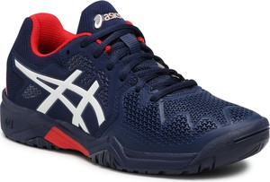 Granatowe buty sportowe dziecięce ASICS sznurowane
