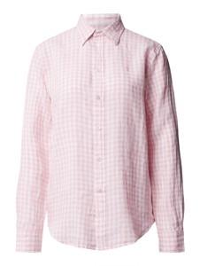 Różowa koszula POLO RALPH LAUREN w stylu casual