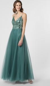 Zielona sukienka VM rozkloszowana maxi