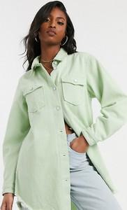 Zielona koszula Missguided Tall z jeansu