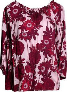 Bluzka TOVA z długim rękawem w stylu casual z okrągłym dekoltem