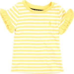 Bluzka dziecięca POLO RALPH LAUREN w paseczki z bawełny