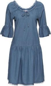 Sukienka bonprix John Baner JEANSWEAR z długim rękawem na co dzień midi