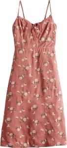 Różowa sukienka Hollister Co. prosta mini w stylu casual