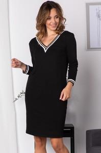 Sukienka Grandio mini z długim rękawem z dekoltem w kształcie litery v