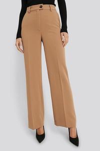 Brązowe spodnie NA-KD w stylu retro