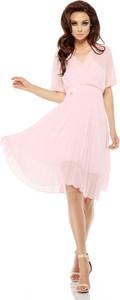 Różowa sukienka Lemoniade z dekoltem w kształcie litery v mini