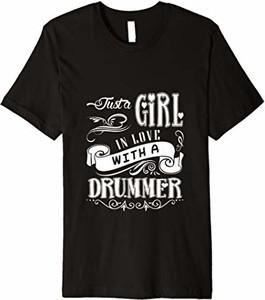 Czarna bluzka Drummer T-shirt w młodzieżowym stylu