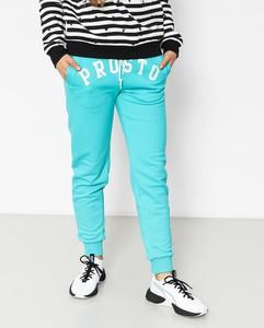 Niebieskie spodnie Prosto. z bawełny