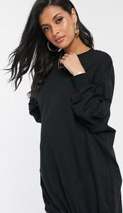 Czarna sukienka Asos z dresówki