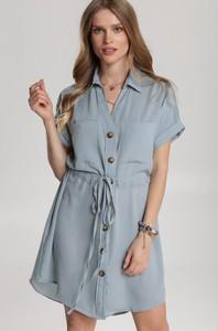 Sukienka Renee mini z krótkim rękawem z kołnierzykiem