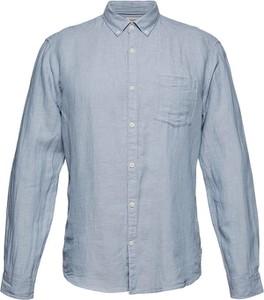 Niebieska koszula Esprit z długim rękawem z bawełny