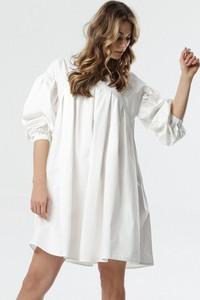 Sukienka born2be z długim rękawem w stylu casual z okrągłym dekoltem