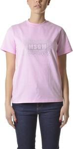 T-shirt MSGM w młodzieżowym stylu z krótkim rękawem
