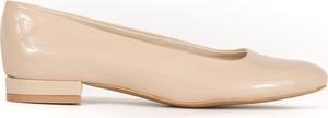 Baleriny Zapato w stylu glamour ze skóry