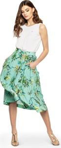 Zielona spódnica L'AF z jedwabiu w stylu boho