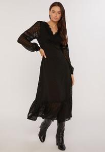Sukienka Monnari midi z dekoltem w kształcie litery v z tkaniny