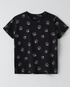 Czarny t-shirt Cropp w stylu casual