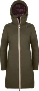 Zielony płaszcz dziecięcy K-Way